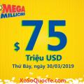 Hai giải Nhất xuất hiện: Jackpot xổ số Mega Millions ở mức $75 triệu USD