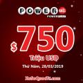 """Hàng loạt giải thưởng """"khủng"""" xuất hiện: Xổ số Powerball đã ở mức $750 triệu USD"""