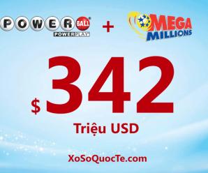 Tổng giá trị hai giải Powerball và Mega Millions đang là $342 triệu USD