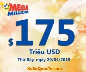 Kết quả xổ số Mega Millions ngày 17/04/2019: Có 2 tấm vé trúng giải Nhất