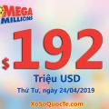 Một người trúng $1 triệu đô: Jackpot Mega Millions lên $192 triệu USD