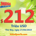 Jackpot xổ số Mega Millions chính thức chạm tới $212 triệu đô-la