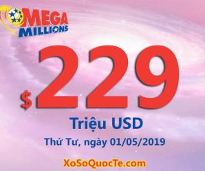 Mega Millions tiếp tục tăng lên mức $229 triệu đô-la
