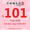 Kết quả xổ số tự chọn Powerball ngày 11/04/2019