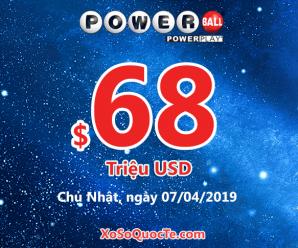 Kết quả xổ số Powerball ngày 04/04/2019: 2 người trở thành triệu phú đô-la