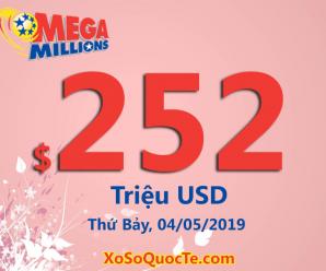 Một giải Nhất $1 triệu USD; Xổ số Mega Millions tăng lên mức $252 triệu đô-la