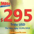 Kết quả xổ số Mega Millions ngày 08/05/19: Jackpot sắp chinh phục mốc $300 triệu USD