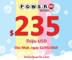 Chưa tìm được chủ nhân, giải thưởng xổ số Powerball lên ngưỡng $235 triệu USD