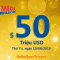 Mega Millions lên mốc $50 triệu USD; phiên 15/6/19 có 1 người trúng $2 triệu USD