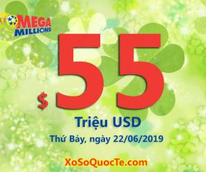 Xổ số Mega Millions chính thức lên $55 triệu USD sau phiên ngày 19/06/2019