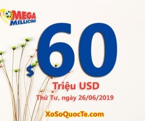 Hai người trúng giải triệu đô trong phiên Mega Millions ngày 22/06/2019