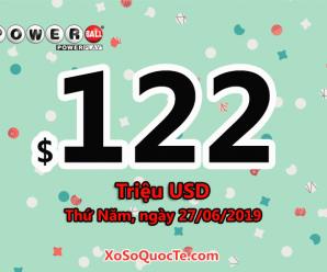 Ba người trúng $1 triệu USD, xổ số Powerball nóng dần với jackpot $122 triệu USD