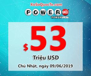 Kết quả xổ số Powerball ngày 06/06/2019: Có 2 người trúng giải triệu đô-la