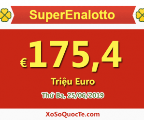 Xổ số SuperEnalotto của Ý lên mốc €175,4 triệu Euro: Lớn thứ 2 trong lịch sử của giải
