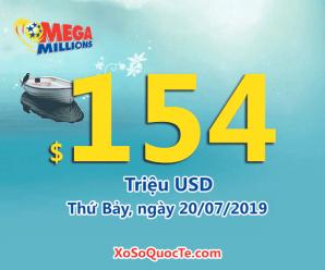 Jackpot xổ số Mega Millions lên hơn 3542 tỷ đồng sau phiên ngày 17/07/2019