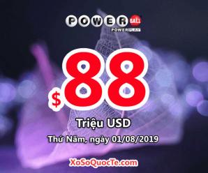 Ba người trúng giải Nhất Triệu đô với xổ số Powerball phiên ngày 28/07/2019