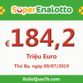 Jackpot của xổ số tự chọn Ý SuperEnalotto tiếp tục tăng cao lên 184.2 triệu Euro