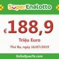 Jackpot xổ số tự chọn của Ý SuperEnalotto tăng nóng lên mốc 188.9 triệu Euro