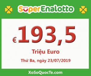 Jackpot xổ số SuperEnalotto chinh phục mốc 193.5 triệu Euro