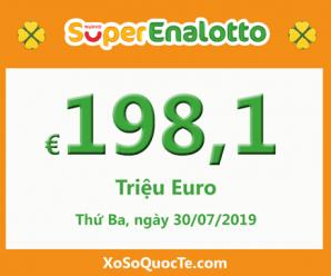 Giải jackpotxổ số tự chọn SuperEnalotto tiếp tục lên tới 198,1 triệu Euro