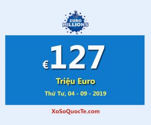 Euro Millions dẫn đầu với Jackpot lớn nhất thế giới €127 Triệu Euro