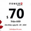 Kết quả xổ số Powerball ngày 29/08/2019: Power Play 10X xuất hiện