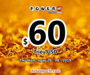 $60 triệu đô-la của xổ số Powerball tìm chủ cho phiên quay thưởng sắp tới
