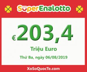 Jackpot chưa có chủ, xổ số Ý SuperEnalotto tăng lên tới 203.4 triệu Euro