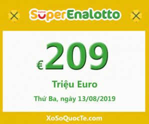 Xổ số Italia SuperEnalotto ngày càng nóng với jackpot 209 triệu Euro