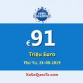 Euro Millions đang có jackpot lớn nhất thế giới: €91 Triệu Euro