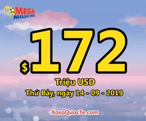 Jackpot xổ số chinh phục mốc $172 triệu đô-la cho phiên ngày 14/9/2019