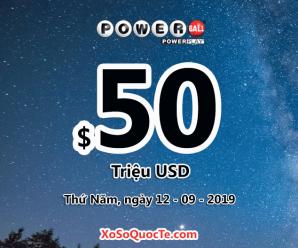 Kết quả xổ số Powerball ngày 08/09/2019: 4 người trúng giải triệu đô-la