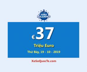 Jackpot trị giá €37 Triệu Euro của xổ số tự chọn EuroMillions đang đợi chủ