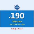 Jackpot €190 Triệu Euro của EuroMillions vẫn đang đợi chủ