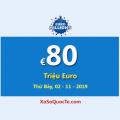 Euro Millions đang là Jackpot lớn thứ ba thế giới với €80 Triệu Euro