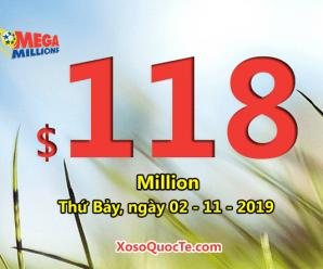 Hai giải Nhất xuất hiện: Jackpot xổ số Mega Millions ở mức $118 triệu USD