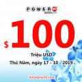 Kết quả xổ số Powerball ngày 13/10/2019: giá trị jackpot tích lũy lên $100 triệu USD