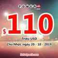 Một tấm vé Powerball trúng $1 triệu USD được mua tại Ohio: Jackpot lên $110 triệu USD