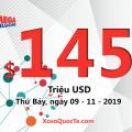 Kết quả xổ số Mega Millions ngày 06/11/2019; Jackpot tiếp theo trị giá $145 triệu USD
