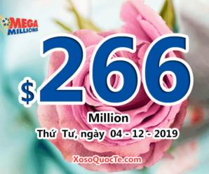 Jackpot Mega Millions tăng lên $266 triệu đô-la, tương đương hơn 6118 tỷ đồng