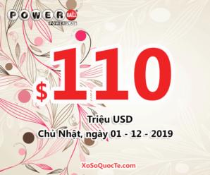 Kết quả xổ số tự chọn Powerball ngày quay thưởng 28/11/2019