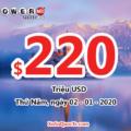 Jackpot Powerball đạt mốc $220 triệu USD cho phiên quay thưởng đầu tiên của năm 2020