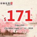 3 người trúng triệu đô; xổ số Powerball thu hút với jackpot tăng lên $171 triệu USD