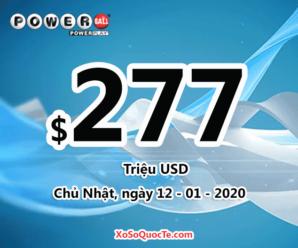 Có 1 người trúng giải triệu đô của xổ số Powerball phiên ngày 09/01/2020