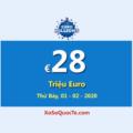 Jackpot EuroMillions hiện đang ở mức €28 Triệu Euro