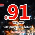Kết quả xổ số Mega Millions ngày 11/01/2020: 1 người trúng giải Nhất