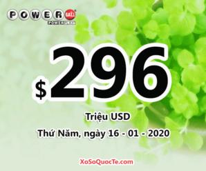 Xổ số Powerball tiếp tục chinh phục mức thưởng ấn tượng $296 triệu đô-la