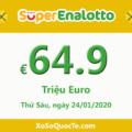Jackpot xổ số tự chọn Ý SuperEnalotto tăng lên 64.9 triệu Euro cho phiên cuối cùng năm Kỷ Hợi