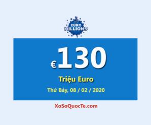 Euro Millions đang có Jackpot lớn thứ hai thế giới €130 Triệu Euro