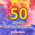 Xổ số Mega Millions chính thức lên $50 triệu USD sau phiên ngày 19/02/2020